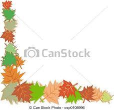 Fall Leaves Border Stock Illustration