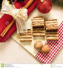 traditioneller ungarischer kuchen 3 gerbeaud stockfoto