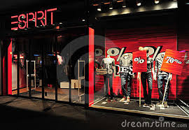 Warehouse Fashion Shop On Home Editorial Image Esprit Clothing Brand Store Front