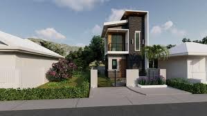 104 Housedesign 2 Storey House Design 4 X 5 M 40 Sq M House Design 6 By Renante Mosqueda At Coroflot Com