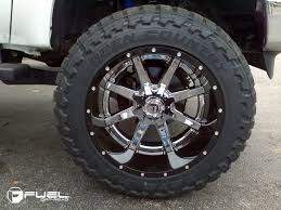 FUEL 2 PIECE WHEELS D260 MAVERICK CHROME CENTER Chrome Truck