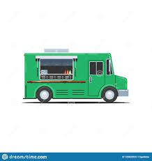 100 Green Food Truck Food Truck Stock Vector Illustration Of Nature