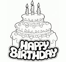 simple birthday cake drawing happy birthday cake for kid coloring