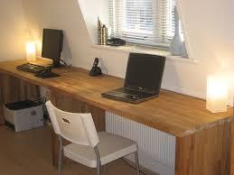 ikea long wood computer desk for two decofurnish
