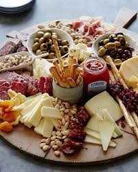 Charcuterie Is A French Word Meaning Cured Meats Board Simple Rustic And Visual Way To Display Many Types Of Together