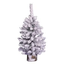 Vickerman 1 Ft Flocked Artificial Christmas Tree With