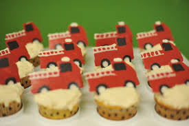 100 Fire Truck Cupcake Toppers Birthday Party Mommyapolis