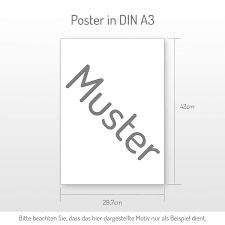 din a4 a3 3 teiliges premium poster set a3 schwarzer