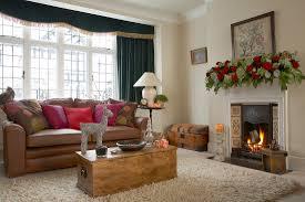 klassisches wohnzimmer weihnachtlich bild kaufen