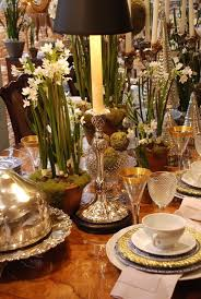 Nell Hill Beautiful Christmas Table Setting But Without The Little Trees It Could Work For Many Other Occasions