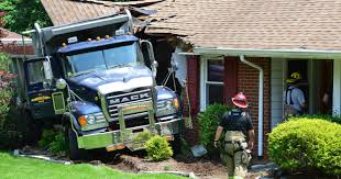 Dump Truck Hits, Damages Home In Hawthorne NJ