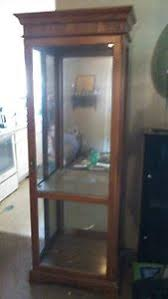 Wooden Gun Cabinet With Etched Glass by Jasper Cabinet Ebay