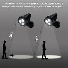troad led motion sensor light wireless spotlight solar motion