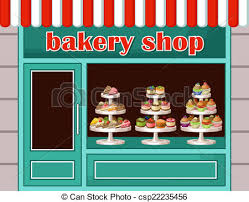 Store Sweets And Bakery Vector Illustration