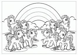 Rainbow Printable Coloring Pages