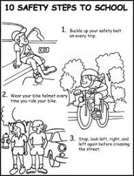 Bike Safety Coloring Page