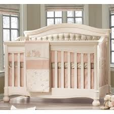 Bedroom Charming Baby Cache Cribs With Curtain Panels And by Natart Avalon Upholstered Panel Convertible Crib In Linen