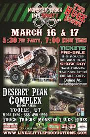 Monsters – Tooele UT – March 16-17, 2018 – Live A Little Productions Monster Truck Trucks Fair County State Thrill 94 Best Jam Images On Pinterest Energy Jam Roars Into Montgomery Again Grand Nationals 2018 To Hit Pocatello Saturday Utah Show Utahcountyfair Heldextracom Triple Threat Series In Washington Dc Jan 2728 14639030baronaspanovember12debramicelidrivingthe Presented By Bridgestone Arena 17 Monsterjams January 3rd 2015 All Star Tour Maverik Center