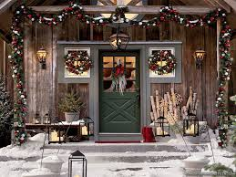 Outdoor Christmas Decorations Withal Awesome Rustic Pictures Of Decorating Ideas With Beautiful Wreath And Small Xmas Trees Classic