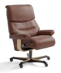 Stressless Jazz Designer Leather Office Chair Black With Footstool