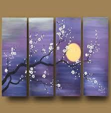 Amazon Asian Zen Decorative Oil Painting Hand Painted Wall Art 4 Piece Bedroom Ideas