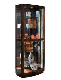 curio cabinet in pacific heights brown by pulaski home gallery