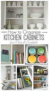How to Organize Kitchen Cabinets Clean and Scentsible