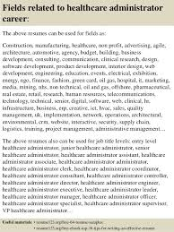 Resume Examples For Healthcare Administration