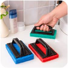 sponge cleaning brushes table ceramic tile floor wall glass dishes