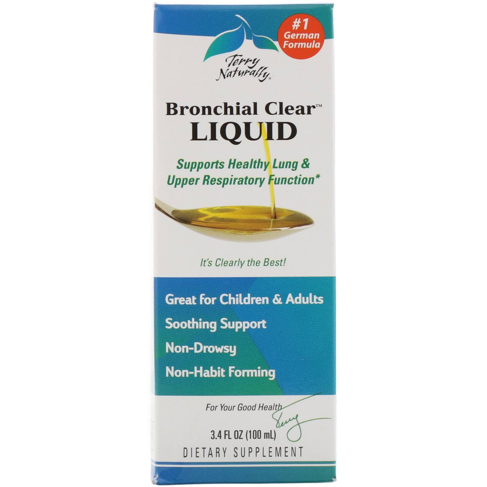 Bronchial Clear Liquid Europharma Supplement - 3.4oz, 100ml