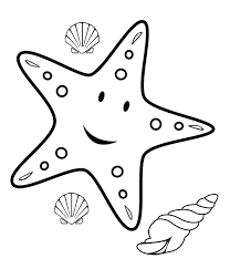 Star Fish Coloring Pages Print Color Craft