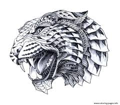 Hard Animal Difficult Advanced Leopart Tattoo Sketches Draw Coloring Pages Print Download 153 Prints