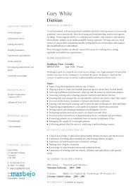 Registered Dietitian Resume Example Template