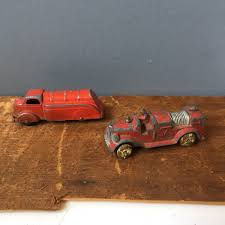 100 Tootsie Toy Fire Truck Toy Fire Engine And Tank Truck Vintage Diecast