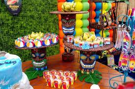 Luau Pool Party Ideas Karas Party Ideas Hawaiian Themed 13th