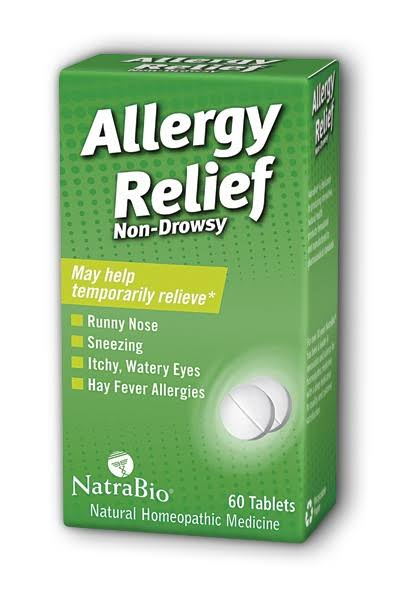 NatraBio Allergy Relief - 60ct, Non Drowsy