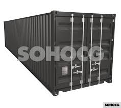 100 Shipping Container Model 40ft 3D