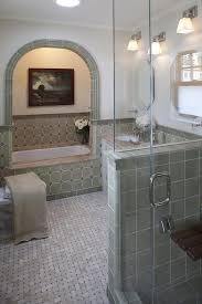 basket weave mosaic tiles bathroom style with shower