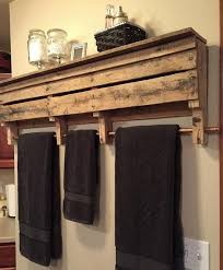 What To Make With Pallets 57 Bathroom Pallet Projects On A Budget Towel RackRustic