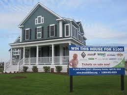 $100 raffle ticket will you shot at THIS dream home