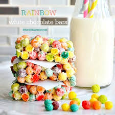 Trix Krispies White Chocolate Bars