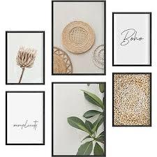 deko bilder für küche wohnzimmer flur poster set seafood