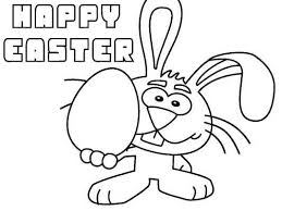 Easter Coloring Pages Bunny With Egg