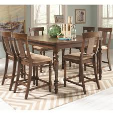 5 Piece Counter Height Dining Room Sets by Jonas 5 Piece Counter Height Dining Set In Rustic Brown Finish By