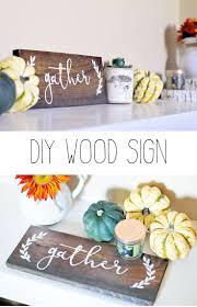 DIY Wood Gather Sign