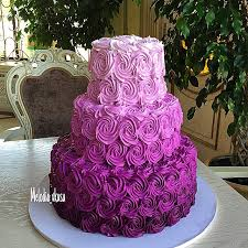Amazing Purple Ombre Cake