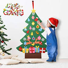 3Ft Felt Christmas Tree 31 Detachable Ornaments Wall Decor Door Hanging Set