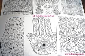 Folk Art Coloring Book Thaneeya Mcardle By I Just
