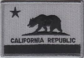 Image Is Loading California CA State Flag Patch SUBDUED GRAY BLACK
