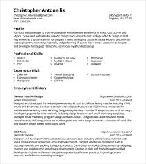 Sample Php Developer Resume Asafonggecco with Sample Php Developer